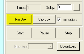'Run box' button
